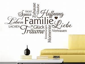Wandtattoo Familie Wortwolke Von KLEBEHELDDE