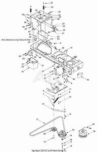 Mtd 14ar808k131  2003  Parts Diagram For Pto  Battery  Frame