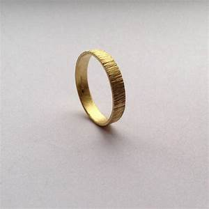 gold tree bark ring 18 carat gold 4mm wide wedding band With 18 carat gold mens wedding ring