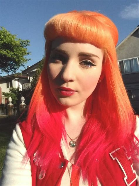 Orange And Red Ombre Hair Colorful Hair Pinterest