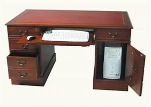 Pc Halterung Schreibtisch : stabiler computer schreibtisch mahagoni ~ Orissabook.com Haus und Dekorationen