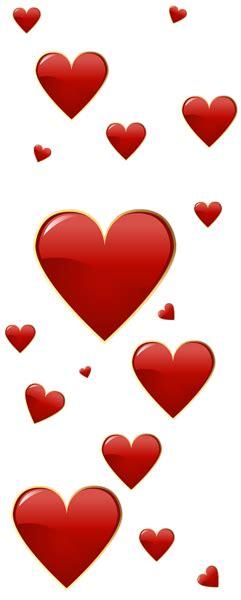Red Valentine Day Hearts Clip Art