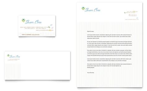Elder Care Nursing Home Print Template Pack From Elder Care Nursing Home Business Card Letterhead