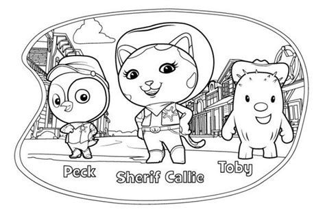 sheriff callie coloring pages sheriff callie s west lasso pages coloring pages