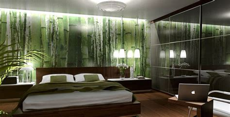 Loft Bedroom Feature Wall by 15 Refreshing Green Bedroom Designs Home Design Lover
