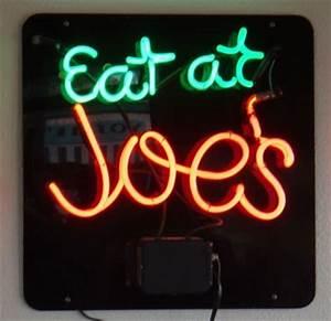 Eat at Joe s Avalon CA Neon Signs on Waymarking