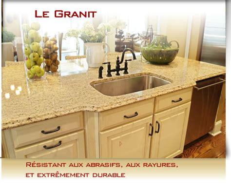 comptoir de cuisine quartz ou granit granit cuisine salle de bain comptoir cuisine coupe