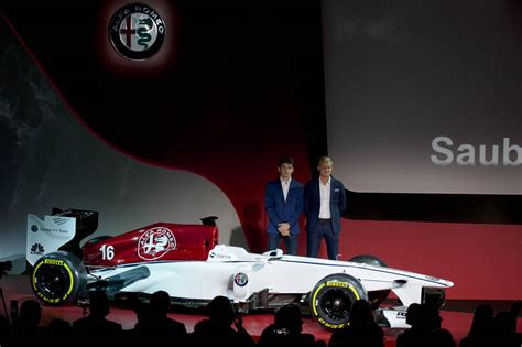 alfa romeo sauber  officially launches   livery
