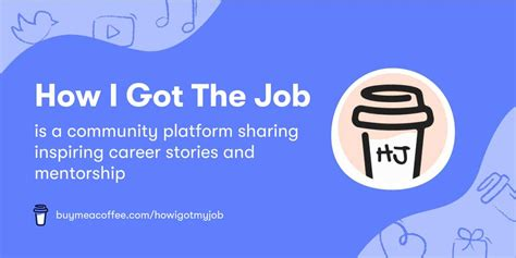 Community coffee holds employees to high standards. How I Got The Job is a community platform sharing inspiring career stories and mentorship