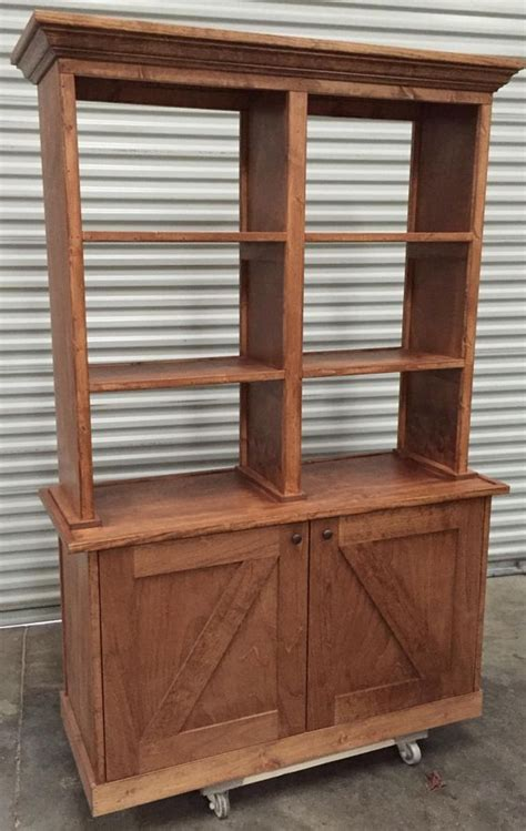 Types Of Hutches - wood retail display hutch cabinet open back rustic barn