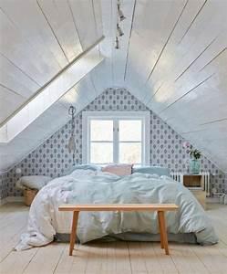 beautiful comment peindre une chambre sous pente images With peinture chambre sous pente