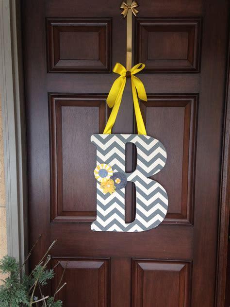 hanging inital letter b front door decor wooden