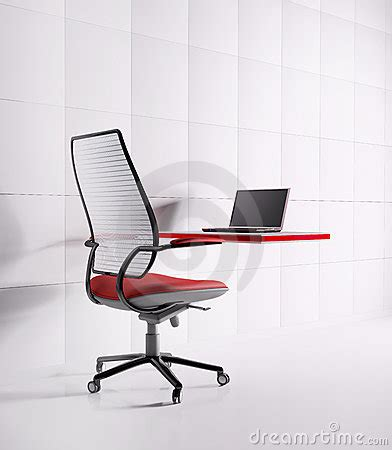 workplace laptop chair table royalty free stock photos