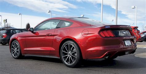 ruby red  ford mustang ecoboost fastback