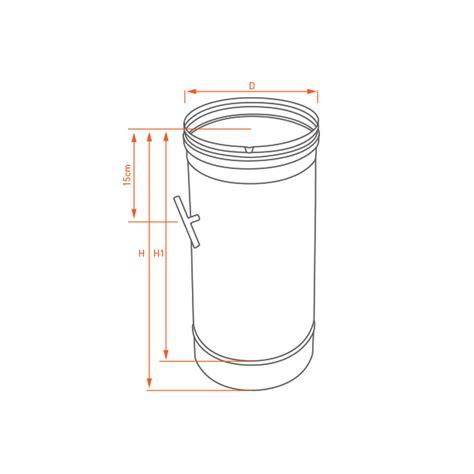 d駻ouleur cuisine inox régulateur de tirage noir et anthracite ø 230