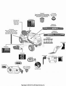 Mtd 13aj771g031  2009  Parts Diagram For Label Map Huskee