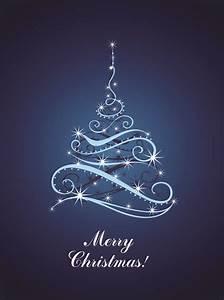 Blue, Light, Christmas, Trees, Design, Vector, 02