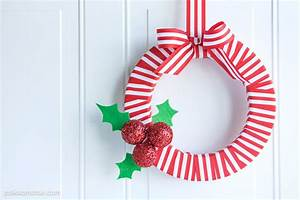 Holly Berry DIY Ribbon Christmas Wreath - The Polka Dot Chair