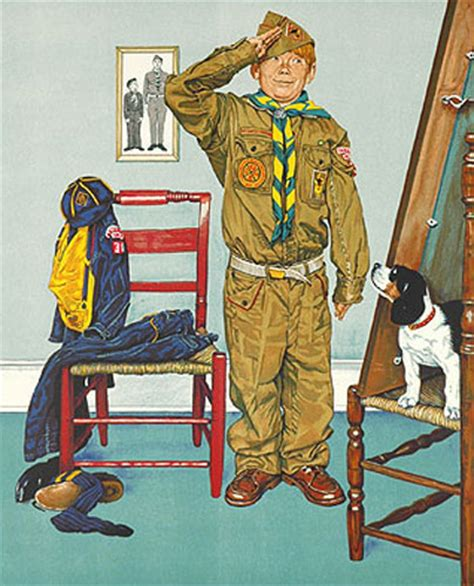 """7 Great Scouting Images by """"America's Illustrator"""" - Cub : Cub"""