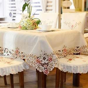 Nappe Table Ovale : 809 carr ovale broderie nappe table tissu d ner europe tapis polyester tapis couverture de ~ Teatrodelosmanantiales.com Idées de Décoration