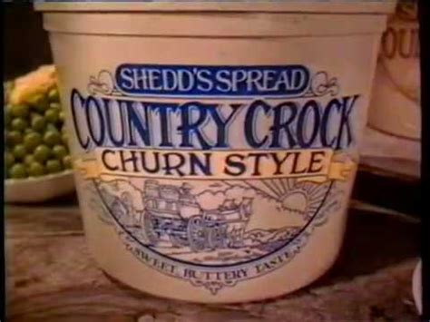"""1992 Country Crock """"churn Style"""" Tv Commercial Youtube"""