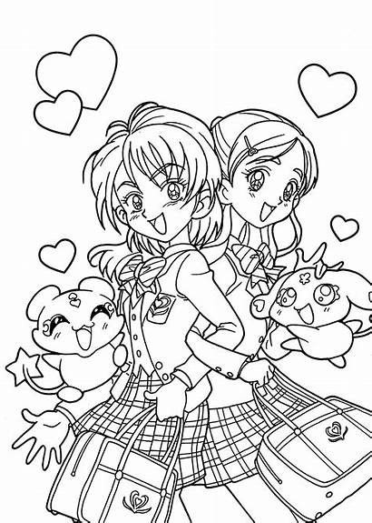 Coloring Pages Manga Animated Cartoon