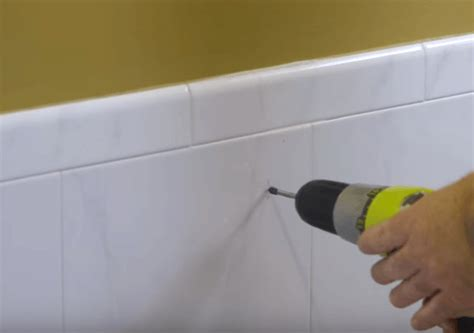Drilling Through Porcelain Tile Wall by How To Drill Through Tiles Cordless Drill Reviews