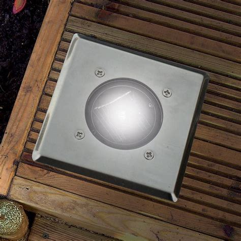 solar led deck lights 12 pack bright white led square solar garden decking deck