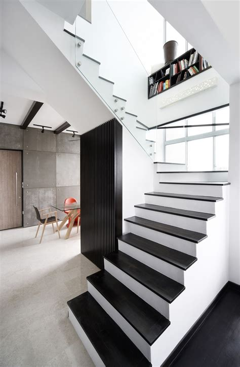 Renovation: 6 staircase design ideas as seen in Singapore homes - Home & Decor Singapore