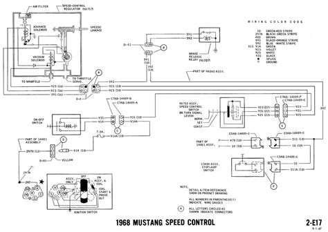 Wiring Diagram Mustang by 1968 Mustang Wiring Diagrams And Vacuum Schematics