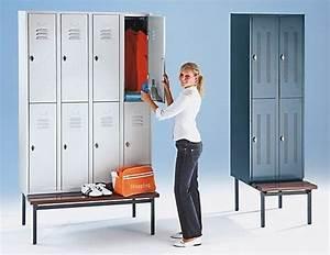 Casier De Vestiaire : armoire de vestiaires avec socle 8 compartiments wolf ~ Edinachiropracticcenter.com Idées de Décoration
