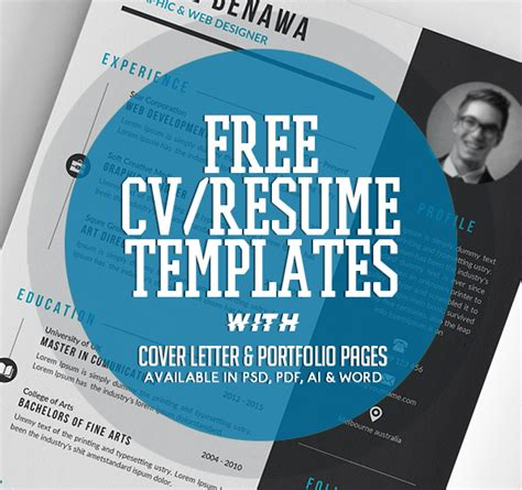 Best Portfolio Free Templates 2017 by 20 Free Cv Resume Templates 2017 Freebies Graphic