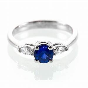 marquise diamond and sapphire engagement ring royal blue With wedding ring sapphire