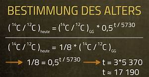 Halbwertszeit Berechnen Formel : radiokarbonmethode zur berechnung des alters einer person ~ Themetempest.com Abrechnung