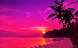Pink Sunset Wallpaper - WallpaperSafari