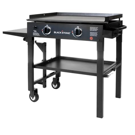 table top griddle propane blackstone 28 in 2 burner propane gas grill in black with