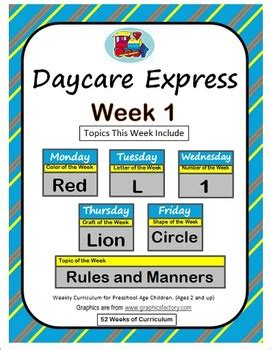 daycare curriculum week  letter  shape circle color