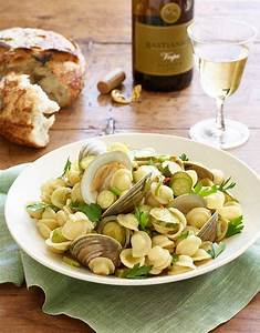 """Orecchiette with Clams and Zucchini from """"Lidia's ..."""