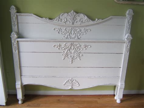 shabby chic beds antique white shabby chic full bed detroit by karen buttice
