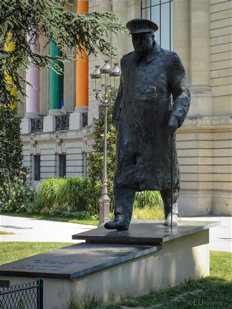 Photos of bronze Winston Churchill statue at Petit Palais ...