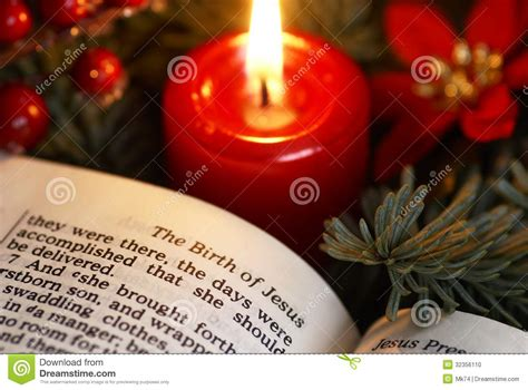 the truth about christmas decorations with bible verses bible detail stock photo image of religion page advent 32356110