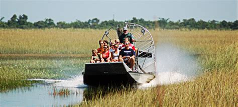 Fan Boat Ride Miami by Coopertown Airboats