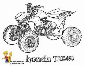 brawny atv coloring pages atv free coloring 4 With honda 400 dirt bike