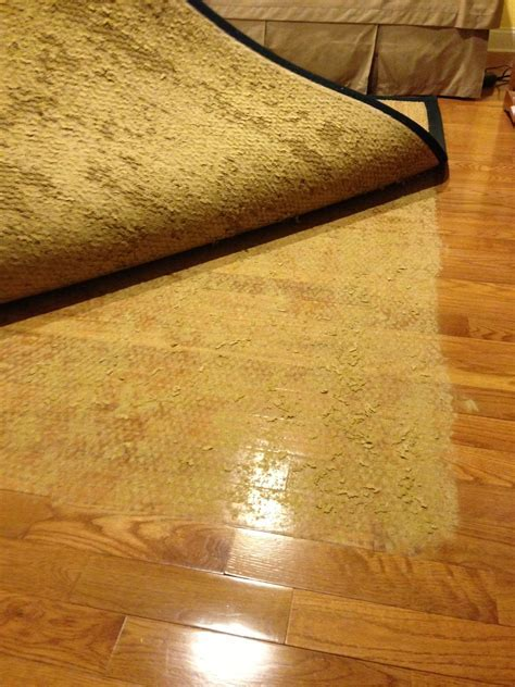 latex rug backing stuck to wood floor   Blog by Pelletier Rug