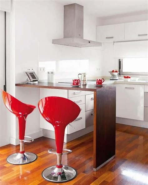 cocinas pequenas  modernas  barra  el hogar