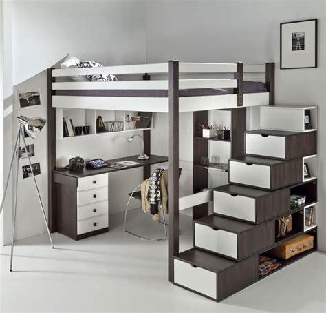 lit mezzanine 2 places avec canapé mezzanine ado chic dcopin