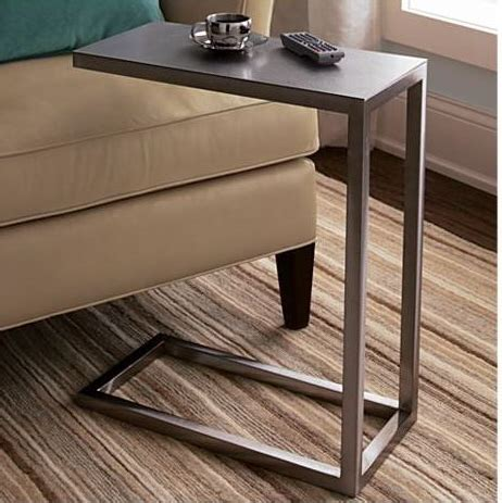 c shaped end table era quot c shaped quot accessory side table from crate barrel