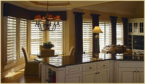 curtains with plantation shutters for the home