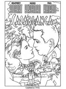 color your own classic posters casablanca