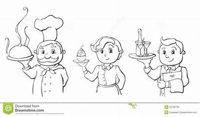 Chef Kelner Cameriere Waitress Bar Waiter Kok